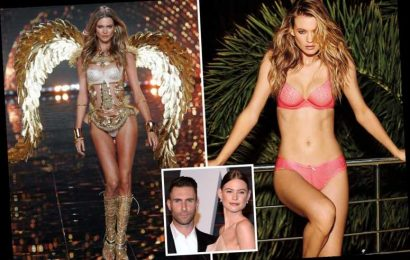 Adam Levine's model wife Behati Prinsloo wows in sexy pink lingerie