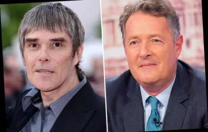Piers Morgan mocks anti-vaxxer Stone Roses frontman Ian Brown as he applauds fan who says he'll be performing at Butlins