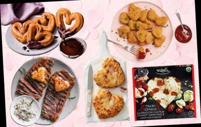 Best Valentine's Day supermarket food including heart-shaped pizza and nuggets from Asda and Aldi