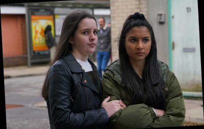 Coronation Street's Elle Mulvaney and Tanisha Gorey confirm stars have returned to soap set after Covid break