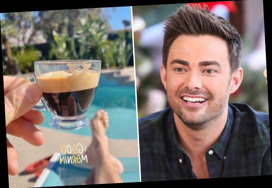 Mean Girls star Jonathan Bennett appears to post photo of 'huge' penis in coffee cup reflection and fans go wild