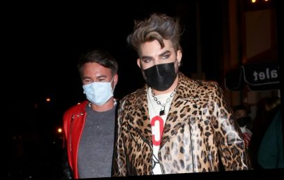 Adam Lambert Shows Off His Cool Style During Night Out in WeHo!