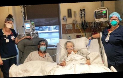 """Nurses create dinner date for """"inseparable"""" couple battling COVID-19 in separate hospital units"""