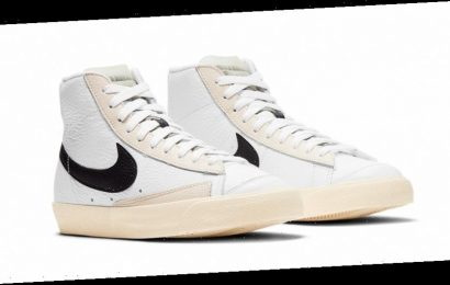 """Nike Blazer Mid '77 Gets Outfitted With a Clean """"Barcode"""" Theme"""