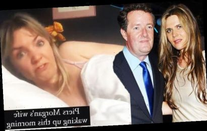 Piers Morgan's wife breaks silence on his GMB exit by posting parody 'Right on the money!'