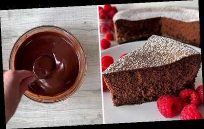 Baker wows with her four-ingredient chocolate cake