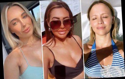 Celebrities strip off in the sunshine as UK enjoys heatwave