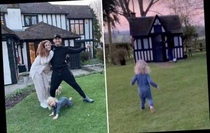 Stacey Solomon is overcome with emotion as she shares first family snap from her new £1.2m home Pickle Cottage