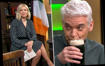 Holly Willoughby refuses to drink Guinness as Philip Schofield drinks a pint at 10am live on TV for St Patrick's Day