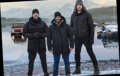 Top Gear lads strip down to skintight Lycra for 'special mid-life crisis episode' where they compete in triathlon