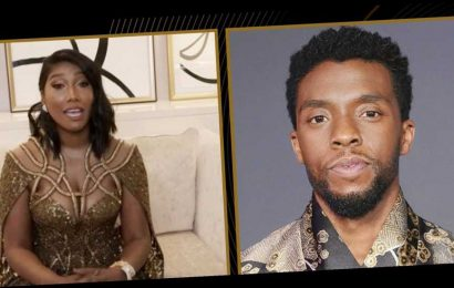 Chadwick Boseman's Wife Gave a Moving Speech While Accepting the Golden Globe on His Behalf