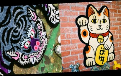 RAW EMOTIONS Delivers Auspicious Lucky Cat and Purple Tiger Rugs