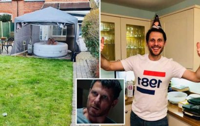 Inside Line of Duty star Alastair Natkiel's home with huge flat screen TV and inflatable hot tub