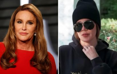 Khloe Kardashian admits she talks to Caitlyn Jenner 'every blue moon' because she's 'busy' but claims there's 'no beef'
