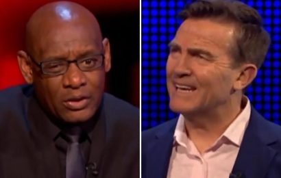 The Chase's Shaun Wallace rages 'I just told you!' at Bradley Walsh as pair clash over question about rake