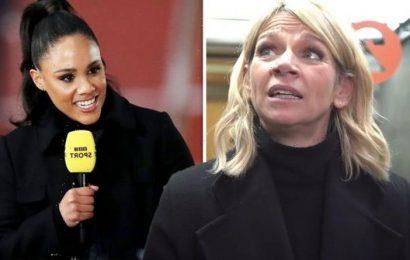 Zoe Ball jumps the gun by congratulating Alex Scott on replacing Dan Walker on BBC show