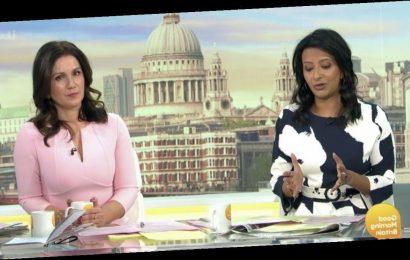 Good Morning Britain's Ranvir Singh and Susanna Reid call out show script