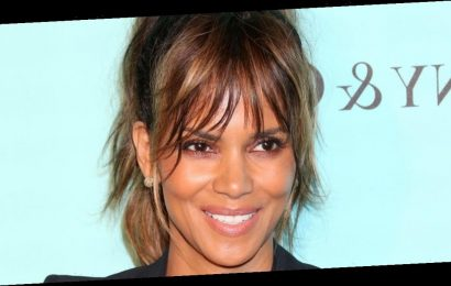 Halle Berry, 54, strips completely naked – aside from high heels – for bathtime
