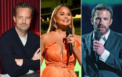 Chrissy Teigen calls out Ben Affleck, Matthew Perry's 'creepy' videos