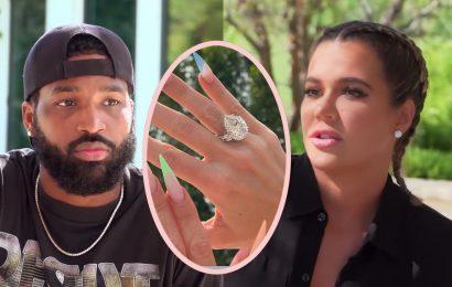 Khloé Kardashian Ditches MASSIVE Diamond Engagement Ring Amid Latest Tristan Thompson Scandal! Look!