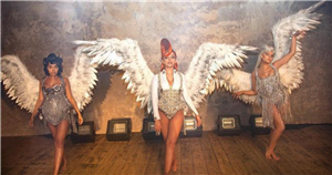 Little Mix's Perrie Edwards and Leigh-Anne Pinnock flaunt bumps in angel outfits