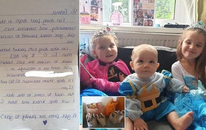 Mother-of-five moved to tears after stranger donated food shopping
