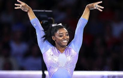 Simone Biles Pulls Off Impossible Yurchenko Double Pike During Practice — Watch