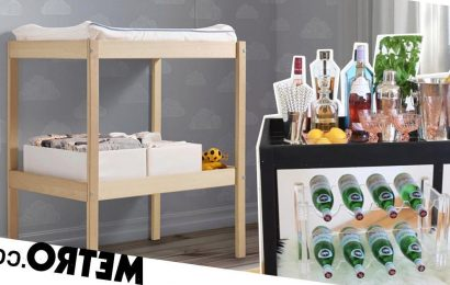 You can make a stunning bar cart using a £25 Ikea changing table