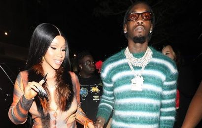 Cardi B Shows Off Her Baby Bump In Plunging Dress While Out With Offset After BET Awards