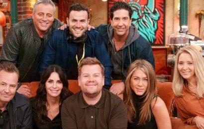 James Corden Takes Friends Cast on Golf Cart Karaoke Ride in Unseen Reunion Clip