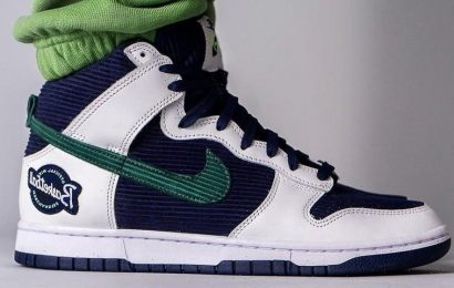 """On-Foot Look at the Nike Dunk High """"Sports Specialties"""""""