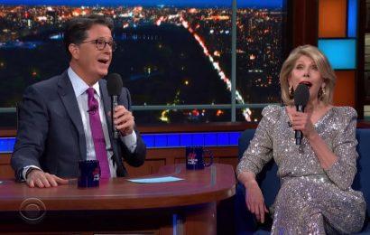 Stephen Colbert & Christine Baranski Get Jump On Broadway With Sondheim Duet