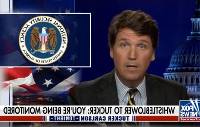 Tucker Carlson Claims a 'Whistleblower' Told Him the NSA Is Spying on Him (Video)