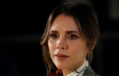 Victoria Beckham bares figure in strapless dress as she glams up for date night