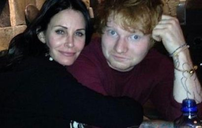 Ed Sheeran admits to buying Friends legend Courteney Cox a leather S&M mask