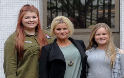 Kerry Katonas girls Molly and Lilly McFadden rally behind friend with bowel cancer