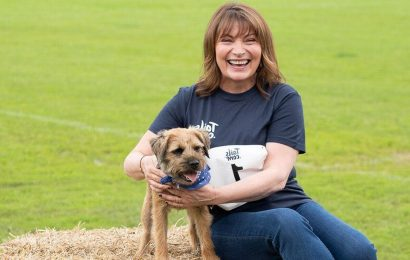 Lorraine Kelly and Victoria Pendleton take part in a Bark Run with 140 dogs