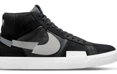 "Nike SB's Chopped-Up SB Blazer Mid ""Black/Wolf Grey"" Offers a Monochromatic Mosaic"
