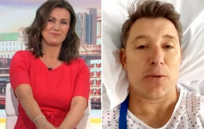 Susanna Reid sends her love to Ben Shephard from GMB after he's rushed to hospital for leg op