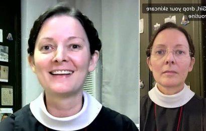 TikTok nun, 55, who went viral with amazing skin slams beauty industry