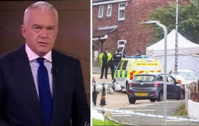 Huw Edwards responds after BBC News called out for not leading on Plymouth shooting