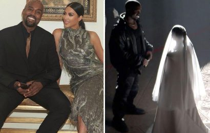 Kim Kardashian wore wedding dress in ex-husband Kanye West's Donda party because she 'supports him and his art'