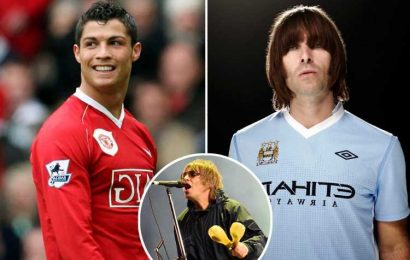 Liam Gallagher in furious onstage rant over Cristiano Ronaldo as football legend joins rivals Manchester United
