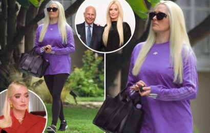 RHOBH's Erika Jayne looks miserable as she ditches designer clothes for leggings after she's SUED for $25M