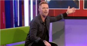 The One Shows Ronan Keating scolds crew as they laugh at cringe throwback clip
