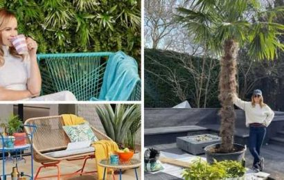 Where to buy Amanda Holdens bright garden furniture and copy her stylish outdoor space