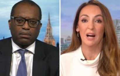 'Going to ask you again Sally Nugent puts Kwarteng on the spot over soaring energy bills