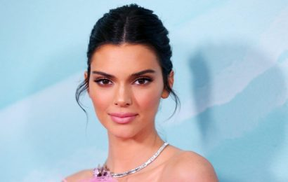 Kendall Jenner Wore a Latex Minidress Embellished with Fish