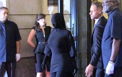 Kim Kardashian West Goes Faceless in Balenciaga for Met Gala Look