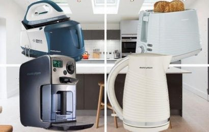 Save up to 50% on Morphy Richards kettles, toasters, and irons in this Amazon sale